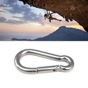 M8 Stainless Steel Carabiner Spring Hook Multi-tool Mountaineering Buckle Lock Camping Hook Rope  Inner Diameter: 7.82mm