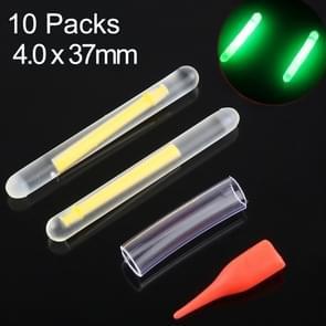 10 Packs OCEAN SUN Luminous Float Night Fishing Light Stick  Visibility: 25m  Size: 4.0 x 37mm