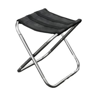 Buiten Portable Folding Stool  grootte: 25*22*26cm(Silver)