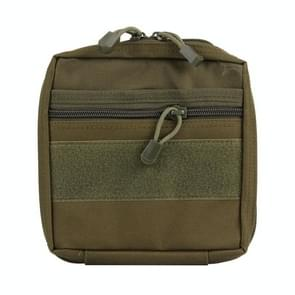 Electronic Gadget Handheld Bag  Size: 19.5*18.8*3.5cm(Army Green)