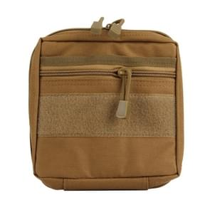 Electronic Gadget Handheld Bag  Size: 19.5*18.8*3.5cm(Brown)