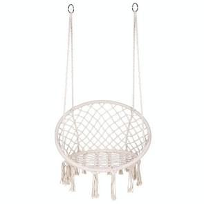 Indoor Single Cotton Rope geweven schommelstoel (Beige)
