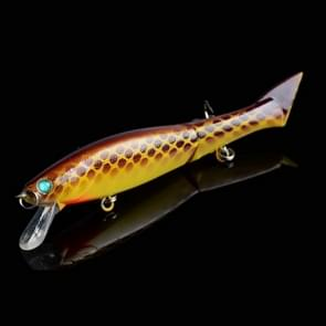 JM 011-X 6# 12cm 13.5g Multi-section Plastic Hard Baits Artificial Fishing Lures with Treble Hook  Random Color Delivery