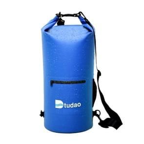 Dtudao buiten waterdichte droge tas Dry Sack met dubbele schouderriem & fles houder  capaciteit: 10L(Blue)