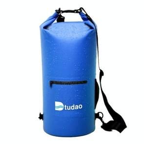 Dtudao buiten waterdichte droge tas Dry Sack met dubbele schouderriem & fles houder  capaciteit: 20L(Blue)