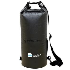 Dtudao buiten waterdichte droge tas Dry Sack met dubbele schouderriem & fles houder  capaciteit: 30L(Black)