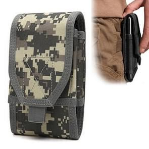 Stylish Multifunctional Outdoor Waist Bag Phone Camera Protective Case Card Pocket Wallet (Digital Camouflage)