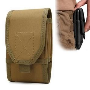 Stylish Multifunctional Outdoor Waist Bag Phone Camera Protective Case Card Pocket Wallet (Muddy)