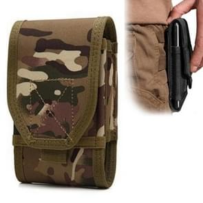Stylish Multifunctional Outdoor Waist Bag Phone Camera Protective Case Card Pocket Wallet (Camouflage)