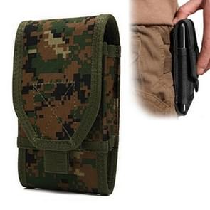 Stylish Multifunctional Outdoor Waist Bag Phone Camera Protective Case Card Pocket Wallet (Forest)