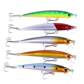HENGJIA 5 PCS 8.5cm Minnow Plastic Hard Baits Fishing Lures Set Fishing Tackle Baits