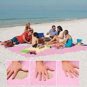 Zand gratis Mat lichtgewicht opvouwbare buiten picknick matras Camping kussen strand Mat  maat: 2x1.5m(Pink)
