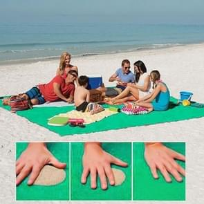 Sand Free Mat Lightweight Foldable Outdoor Picnic Mattress Camping Cushion Beach Mat  Size: 2x1.5m(Green)