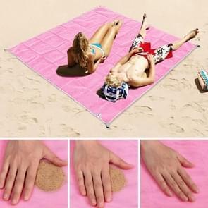 Zand gratis Mat lichtgewicht opvouwbare buiten picknick matras Camping kussen strand Mat  maat: 2x2m(Pink)