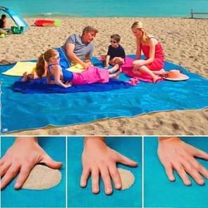Zand gratis Mat lichtgewicht opvouwbare buiten picknick matras Camping kussen strand Mat  maat: 2x2m(Blue)