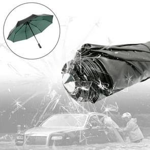 3-vouwen paraplu automatische Auto Open nauwe paraplu Ultraviolet-proof waterdicht All-weather paraplu met nood hamer venster Breaker (groen)
