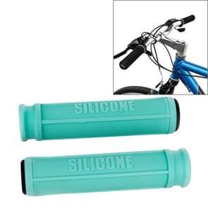 Een paar AG110 Road Bike Mountain Bike Grip Stuur siliconen beschermende Covers (Mint groen)