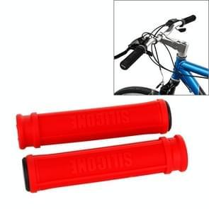 Een paar AG110 Road Bike Mountain Bike Grip Stuur siliconen beschermende Covers(Red)
