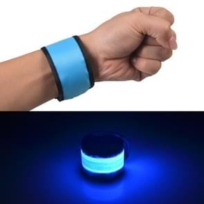 LED lichtgevende klap Pat cirkel Outdoors sport armband  Large  Size:35*4cm(Blue)