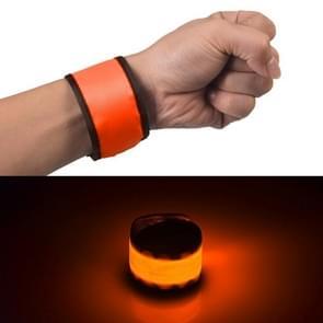 LED lichtgevende klap Pat cirkel Outdoors sport armband  kleine  Size:26*4cm(Orange)