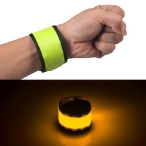 LED lichtgevende klap Pat cirkel Outdoors sport armband  kleine  grootte: 26 * 4cm (groen licht)