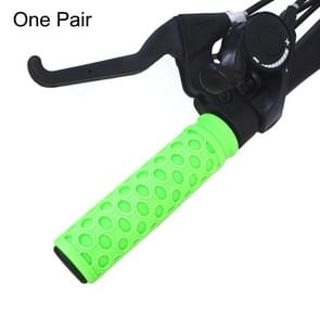 One Pair AG112 Road Bike Mountain Bike Grip Handlebar Silicone Protective Covers(Green)