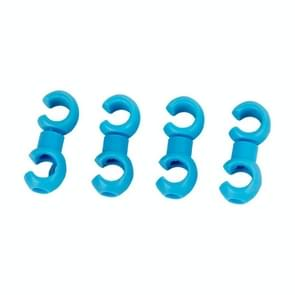 4 PCS S-shaped Bike Cable Organizing Buckles (Blue)