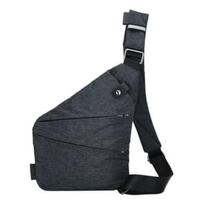 Multi-Function Portable Anti-theft Polyester Business Chest Bag Outdoor Sports Shoulder Bag for Men (Grey)