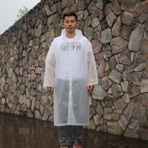 Lange mouw manchet winddicht Upgrade versie van een stuk milieubescherming transparante regenjas gemiddelde Size(White)