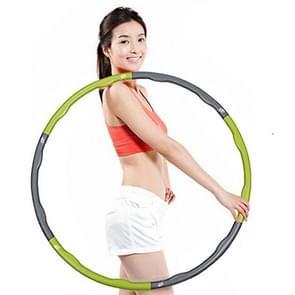 0 7 kg 6-sectie Fitness verwisselbare spons schuim hoelahoep voor Adult(Green)