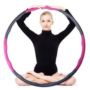 1.2kg 6-sectie zware Fitness verwisselbare spons schuim Massage hoelahoep voor Adult(Magenta)