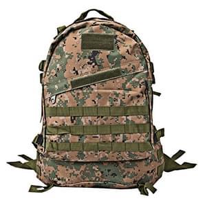 INDEPMAN DL-B001 Fashion Camouflage stijl mannen Oxford doek rugzak schouders zak 40 L buiten wandelen Camping reizende tas 3D tactische pakket met uitgebreide MOLLE & magische Sticker & verstelbare schouderriem  formaat: 51 x 42 x 22 cm (digitale Jungle)