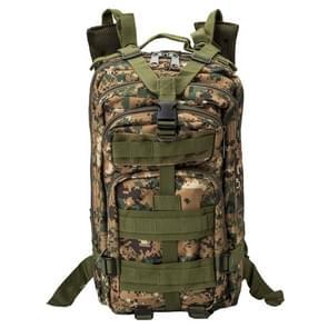 INDEPMAN DL-B002A Fashion Camouflage stijl mannen Oxford doek rugzak schouders zak 25 L buiten wandelen Camping reizende zak 3P tactische-pakket met uitgebreide MOLLE & IND schouderriem met vulling & verstelbare schouderriem  grootte: 43 x 26 x 23 cm (dig