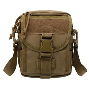 INDEPMAN DL-B020 Fashion Army Style Oxford Cloth Tactical Package Crossbody Bag Shoulder Sling Bag Hand Bag Messenger Bag  Size: 17 x 15 x 8 cm(Khaki)