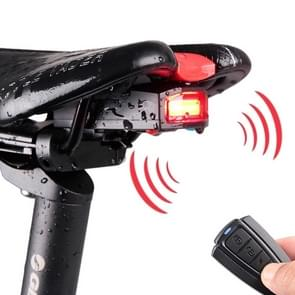 IP65 Waterproof USB Rechargeable Smart COB LED Alarm Bicycle Rear Light Taillight with Remote Control  Control Distance: 1-100m