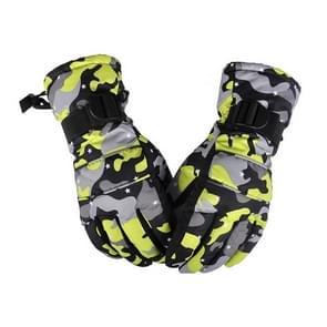 Een paar beschermende Unisex skiën paardrijden Winter Outdoor sporten verdikt Spatwaterdichte winddicht warme handschoenen  maat: M (gele Camouflage)
