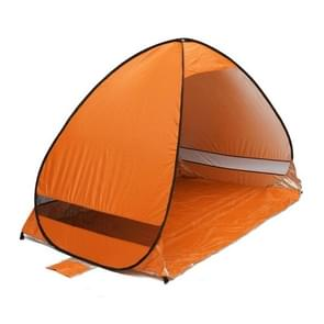 Foldable Free to Build Automatic Quick Speed Open Outdoor Camping Beach Tent with Carrying Bag for 2 Adult or 3 Children Use  Size: 2x1.2x1.3m(Orange)