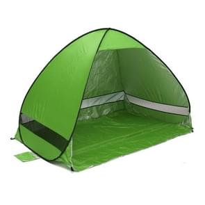 Foldable Free to Build Automatic Quick Speed Open Outdoor Camping Beach Tent with Carrying Bag for 2 Adult or 3 Children Use  Size: 2x1.2x1.3m(Green)