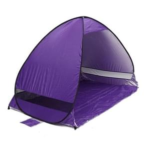 Foldable Free to Build Automatic Quick Speed Open Outdoor Camping Beach Tent with Carrying Bag for 2 Adult or 3 Children Use  Size: 2x1.2x1.3m(Purple)