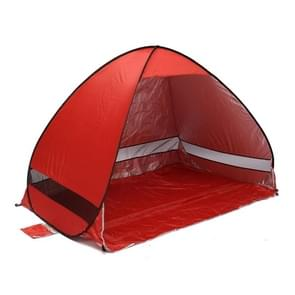 Foldable Free to Build Automatic Quick Speed Open Outdoor Camping Beach Tent with Carrying Bag for 2 Adult or 3 Children Use  Size: 2x1.2x1.3m(Red)
