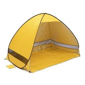 Foldable Free to Build Automatic Quick Speed Open Outdoor Camping Beach Tent with Carrying Bag for 2 Adult or 3 Children Use  Size: 2x1.2x1.3m(Yellow)