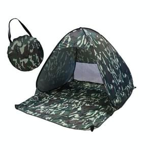 Foldable Free to Build Automatic Quick Speed Open Outdoor Camping Beach Tent with Carrying Bag for 2 Adult or 3 Children Use  Size: 1.65x1.5x1.1m (Camouflage)