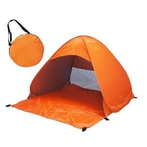 Foldable Free to Build Automatic Quick Speed Open Outdoor Camping Beach Tent with Carrying Bag for 2 Adult or 3 Children Use  Size: 1.65x1.5x1.1m (Orange)