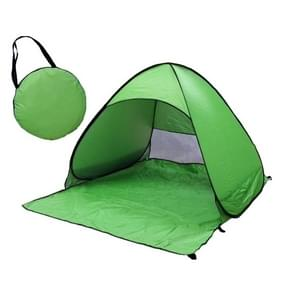 Foldable Free to Build Automatic Quick Speed Open Outdoor Camping Beach Tent with Carrying Bag for 2 Adult or 3 Children Use  Size: 1.65x1.5x1.1m (Green)
