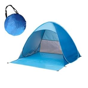 Foldable Free to Build Automatic Quick Speed Open Outdoor Camping Beach Tent with Carrying Bag for 2 Adult or 3 Children Use  Size: 1.65x1.5x1.1m (Blue)