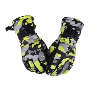Een paar beschermende Unisex skiën paardrijden Winter Outdoor sporten verdikt Spatwaterdichte winddicht warme handschoenen  maat: L (gele Camouflage)