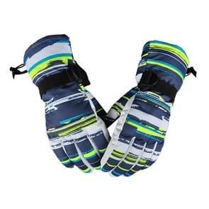 Een paar beschermende Unisex skiën paardrijden Winter Outdoor sporten verdikt Spatwaterdichte winddicht warme handschoenen  maat: L (witte & gele Graffiti)