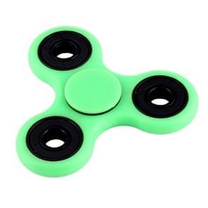 Fidget Spinner Speeltje tegen stress en angst met Fluorescerende Verlichting voor kinderen en volwassenen  4 Minuten Rotatie Tijd  Hybride Keramische Lager + POM materiaal (groen)