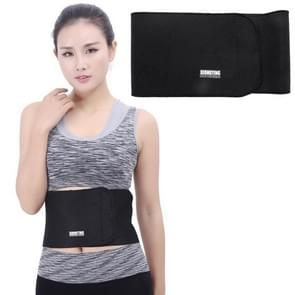 Elastic Sports Thermal Waist Support Guard  Size: 17 x 95cm(Black)