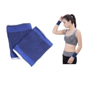 2 PCS Elastic Sports Thermal Wrist Support Guards  Afmeting: 8 x 10cm